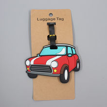 Creatieve Sedan Auto Bagage Reizen Accessoires Tag Silicagel Koffer Id Addres Houder Bagage Boarding Tag Draagbare Label(China)
