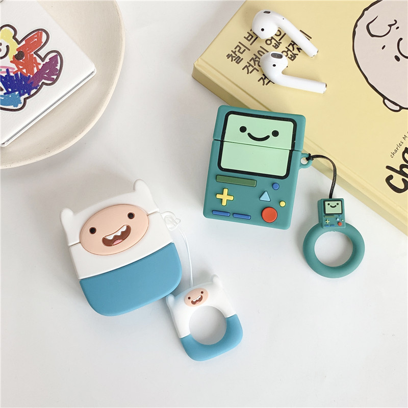 Cartoon Game Machine Bluetooth Earphone Case For Airpods 1 2 3 Cute Protective Cover For Airpods Pro Accessories With Keychain