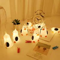 Natal 1.5m 10 luzes bonito pinguim luz corda decorações de natal para casa feliz natal ano novo decoração natal. q
