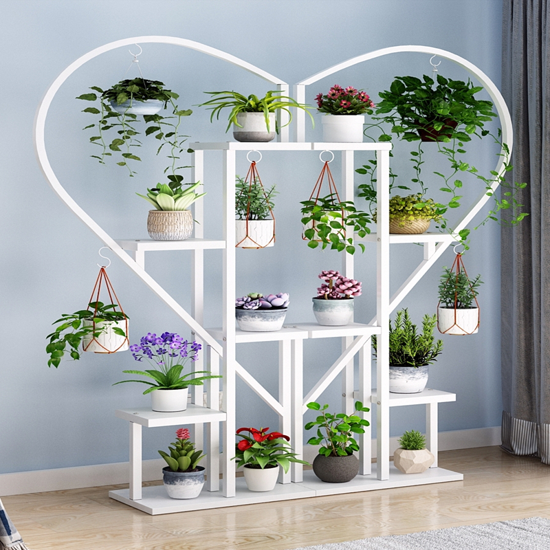 Flower Shelf Multi-storey Indoor Special Living Room Hanging Orchid Bedroom Home Balcony Decoration Floor Heart-shaped Creative