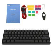 Anne Pro 2 키보드 Bluetooth 4.0 Type C RGB 61 키 기계식 게임용 키보드 체리 스위치 Gateron 스위치 Kailh 스위치
