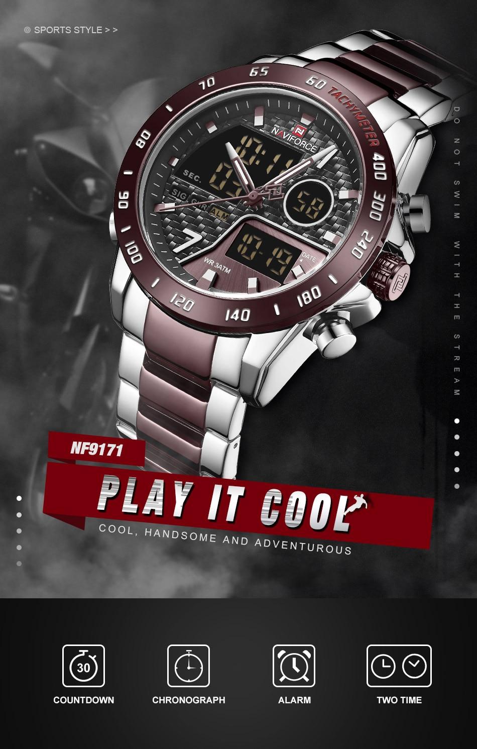 Hdb3a36c6e90246228b1150fcf1a46c91g NAVIFORCE Men Digital Watch LED Sport Military Mens Quartz Wristwatch Male Luminous Waterproof Clock Watches Relogio Masculino