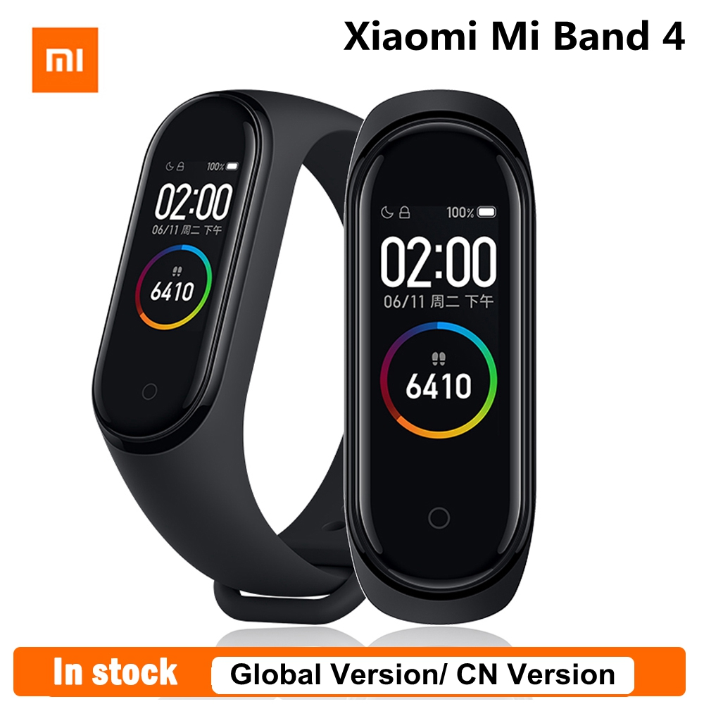 Original Xiaomi Mi Band 4 Fitness Tracker Global Version Smart Bracelet NFC Version Color Screen CN Version Touch Control Band