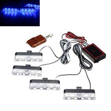 цена на Red Blue Yellow White Auto car Front Grille Emergency Flash Warning light LED Strobe Light 3 Mode for Police Firefighter Q84E