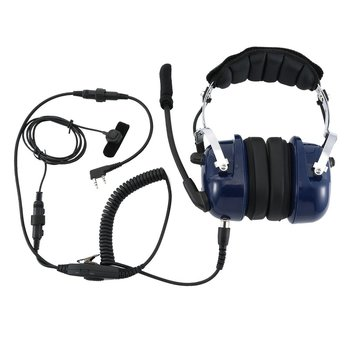 Noise Cancelling Aviation Microphone Headset Walkie Talkie Earpiece Vox Volume Adjustment For Kenwwod Baofeng UV-5R