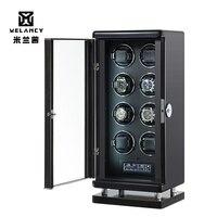 AU/EU/US/UK Automatic Watch Winder Single Head for 8 Watches black Durable FIve Modes Storage Case Box