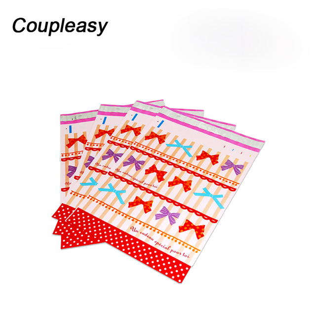 100Pcs 26x33cm Color Courier Bag Self Seal Storage Bag Poly Plastic Envelope Mailer Postal Shipping Mailing Bags Business Supply