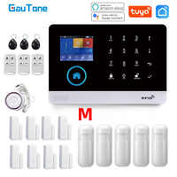 GauTone-sistema de alarma PG103 para seguridad del hogar, antirrobo, 433MHz, WiFi, GSM, inalámbrico, Tuya, Control por aplicación de casa inteligente