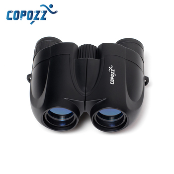 COPOZZ Zoom Telescope 10x25 Adult Kids Folding Binoculars BAK4 Low Light Night Vision for Outdoor Camping Skiing Bird Watching zoom telescope 40x22 folding binoculars with low light night vision for outdoor bird watching travelling hunting camping 2000m a