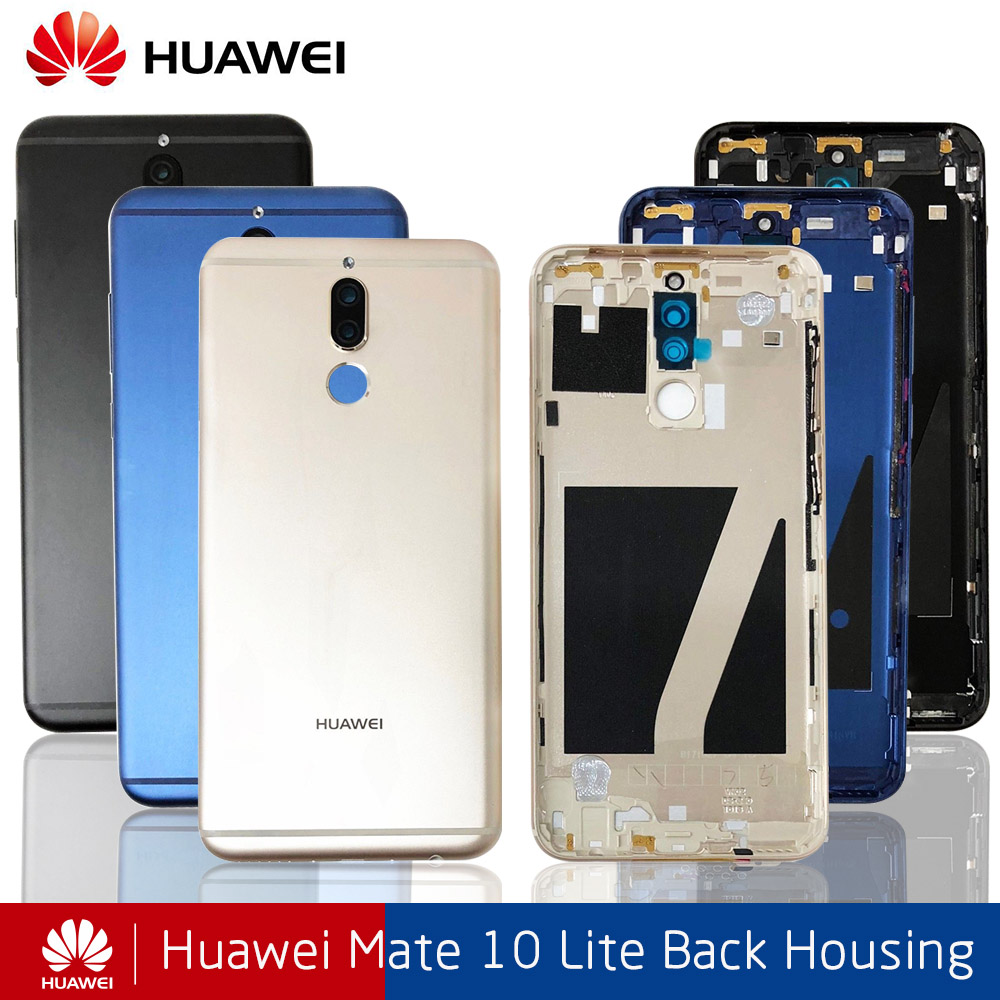 Huawei Mate 10 Lite Battery Cover Back Housing For Huawei Nova 2i Rear Door Case For Mate 10 Lite Battery Cover+Camera Lens
