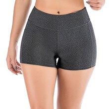 Women High Waist Yoga Shorts Side Cell Phone Pockets Sports Shorts Leggings Sportswear Running Workout Gym Fitness Tight Short