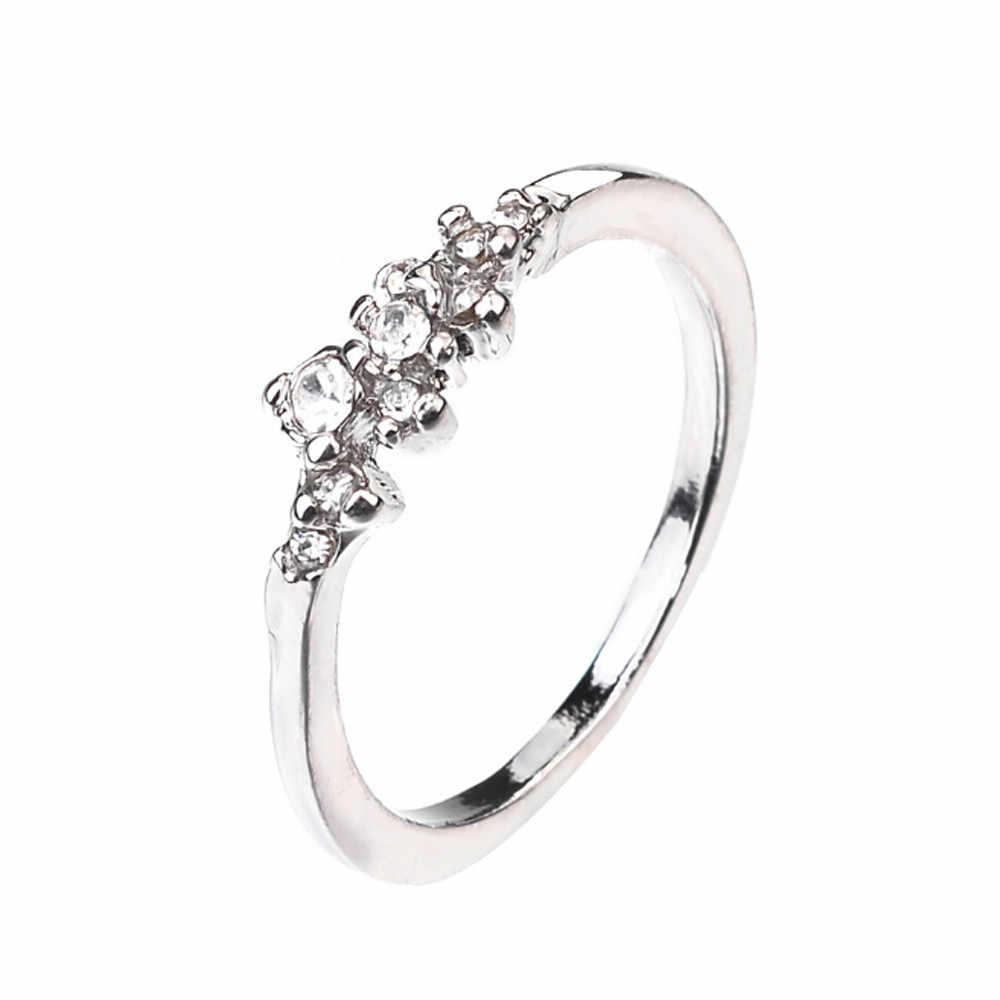 Anelli Per Le Donne anello di fidanzamento 9 delle Donne Vestito Da Sposa Anello Anello Anello di Nozze Regali Di Compleanno di lusso lotti all'ingrosso all'ingrosso
