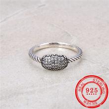 W nowym stylu 925 srebro pierścionek cyrkon inkrustowane w stylu retro pierścionek pierścionek damski prezent ślubny moda biżuteria srebrna