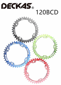 DECKAS 120BCD 36T/38T/40T/42T/44T MTB Crank Chainring Hollow Repair Suitable BCD 120mm image