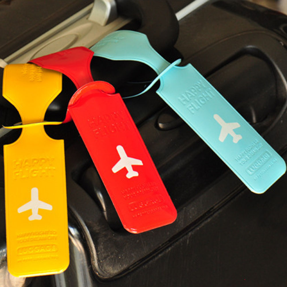 Travel Luggage Tag Cover Creative Accessories Suitcase ID Address Holder Letter Baggage Boarding Tags Portable Label