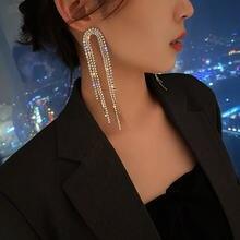 Модные длинные серьги с кисточками для женщин роскошные высококачественные