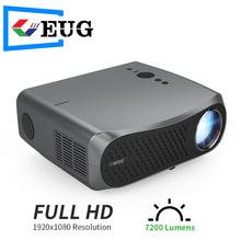 Gorąca sprzedaż 7200 lumenów LED Proyector Full HD 1080P Android 6 0 Wifi inteligentny kino domowe wideo przenośny projektor 3D film Beamer tanie tanio CAIWEI Korekcja ręczna CN (pochodzenie) Projektor cyfrowy 16 09 160W 1920x1080 dpi 7000 lumenów 900D 40-200 cali Led light