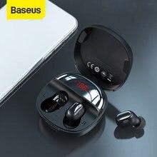 Baseus TWS słuchawki Bluetooth WM01 Plus bezprzewodowe słuchawki Bluetooth 5.0 sportowe wodoodporne słuchawki z wyświetlaczem LED baterii