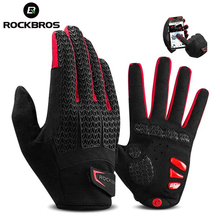 ROCKBROS Cycling Gloves Touch Screen GEL Bike Gloves Ciclismo Sports Shockproof MTB Road Full Finger Bicycle Glove For Men Women inbike cycling gloves touch screen bike sport hiking shockproof gloves for men women mtb road bicycle full finger phone glove