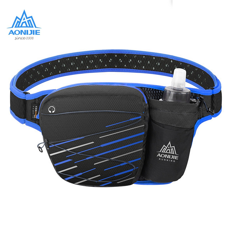 AONIJIE W949 Waist Bag With 500ml <font><b>Water</b></font> <font><b>Bottle</b></font> Hydration <font><b>Belt</b></font> Pouch Pack Cell Phone Holder Marathon Cycling Running image