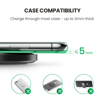 Ugreen Wireless Charger for iPhone 11 X Xs Xr 8 10W Qi Fast Wireless Charging Pad for Samsung S10 Note 9 AirPods Xiaomi Charger 4