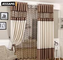 Europeu romano puro ninho de pássaro luxo emendado cortina linho tule para sala estar cozinha quarto