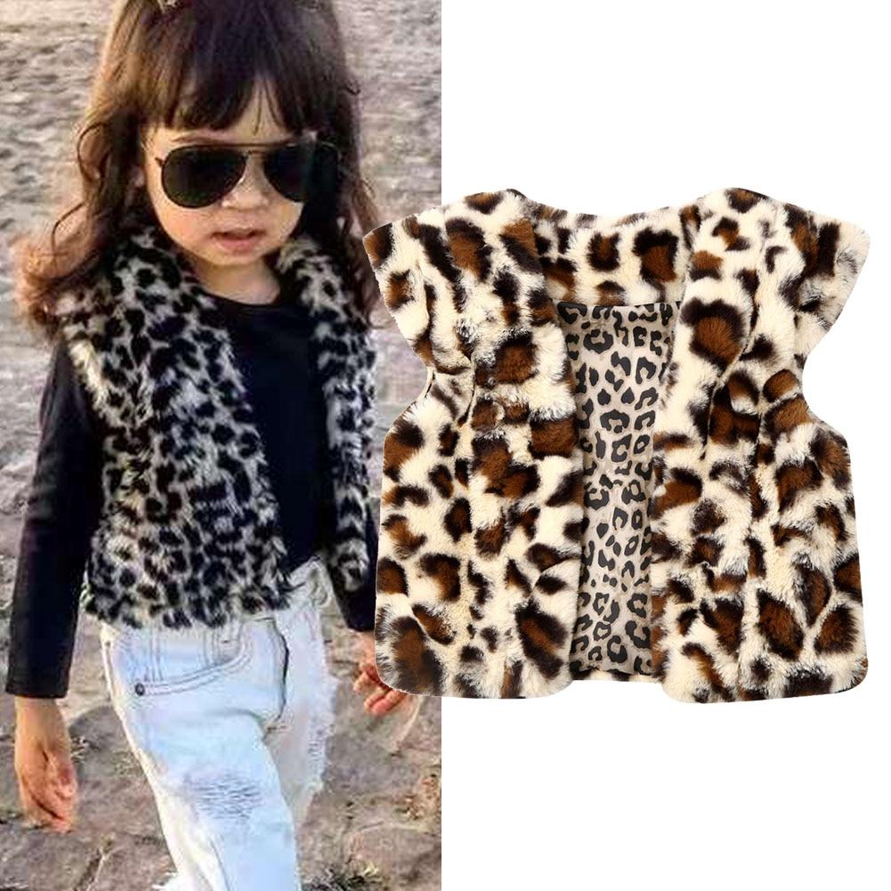Childrens Kid Baby Girls Waistcoat Jacket Tops Outwear Winter Warm Faux Fur Vest