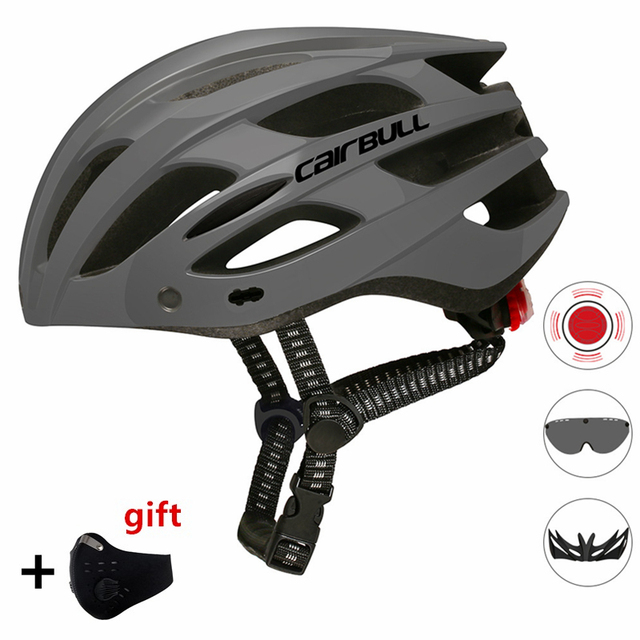 Oad ciclismo capacete luz da cauda integralmente moldado capacetes mtb bicicleta capacete ultraleve com visor removível óculos de proteção 1