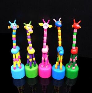 Image 4 - Juguete de inteligencia para niños, soporte de baile, jirafa mecedora colorida, de madera, Levert, Color aleatorio, novedad de 2019