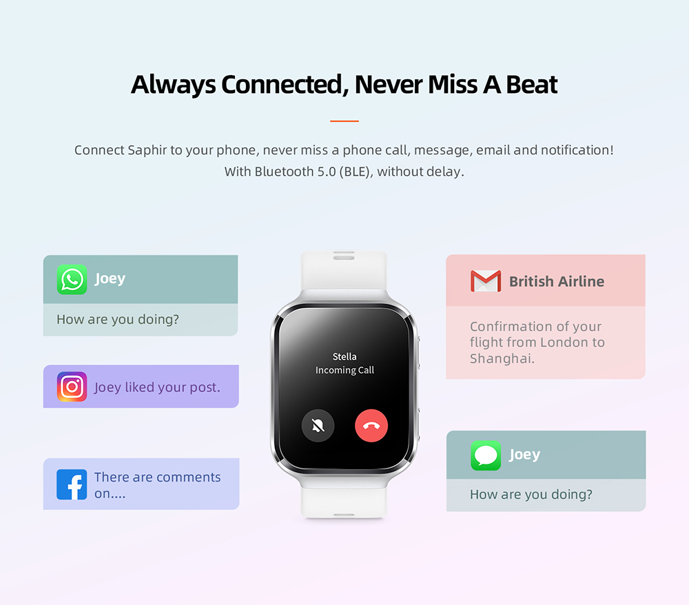 70mai Smart Watch Saphir Bluetooth GPS Sport Heart Rate Monitor 12