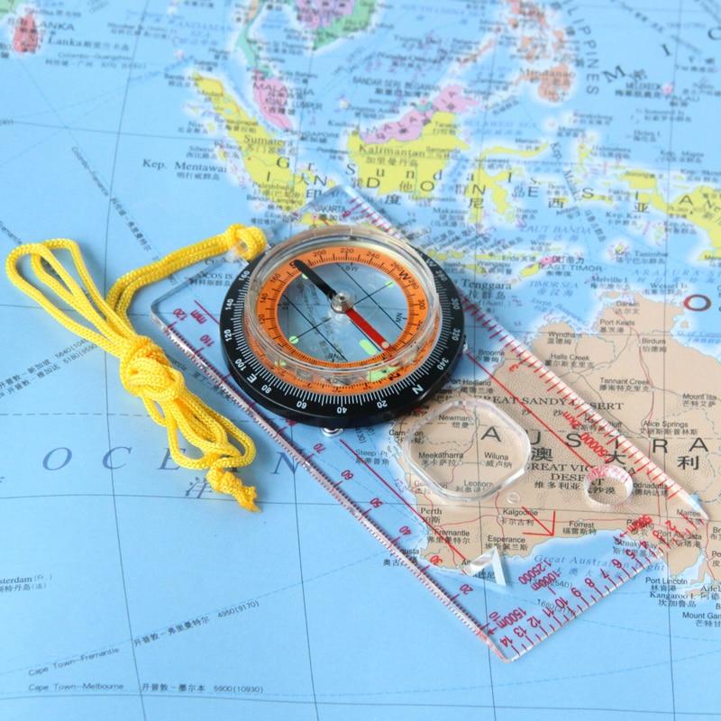 Eyeskey открытый кемпинг компас направленная кросс-кантри гонки туристический компас Baseplate с линейкой карта весы Ночная bussola