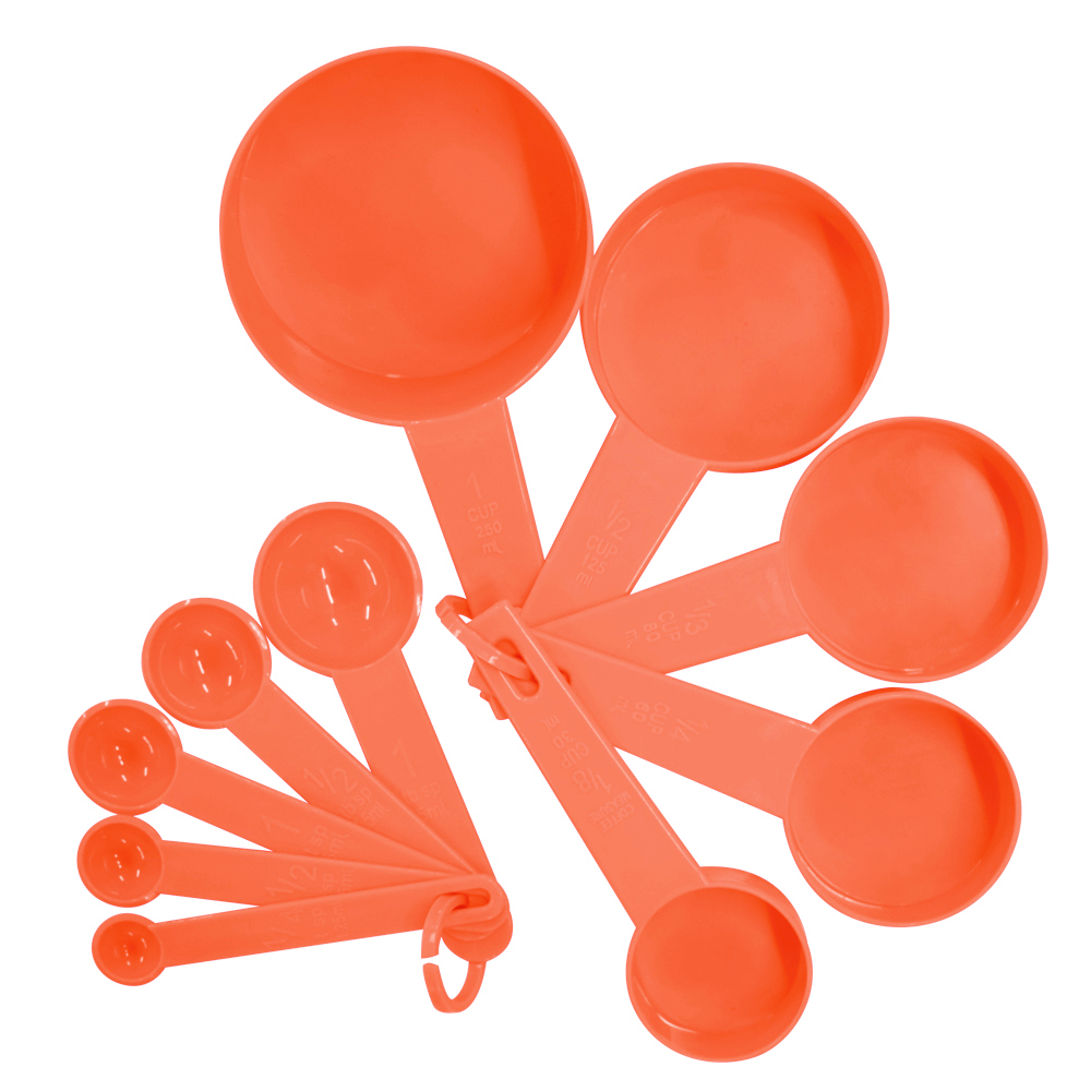 10pcs 7 Color Measuring Cups And Measuring Spoon Scoop Silicone Handle Kitchen Measuring Tool FreeShipping 6