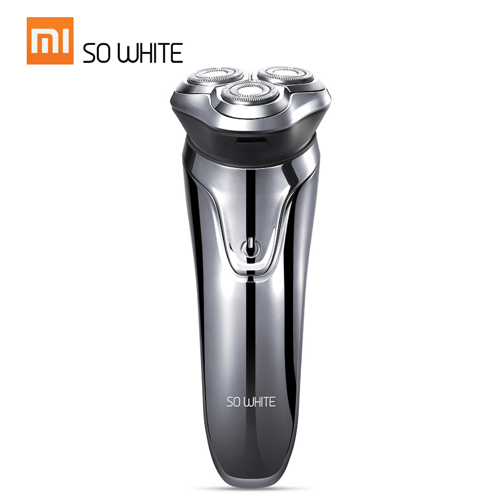 Image 2 - Xiaomi SO WHITE ES03 Electric Shave Razor Dry Wet Shaving Washable Mode 3D Smart Control Shaving Beard Machine Shaver-in Electric Shavers from Home Appliances