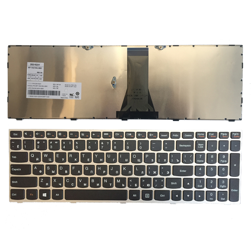NEW Russian/RU Laptop Keyboard FOR Lenovo G50 Z50 B50-30 G50-70A G50-70H G50-30 G50-45 G50-70 G50-70m Z70-80 Silver