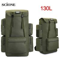 130L Large Cmaping Backpack Travel Bag Outddor Luggage Bags Hiking Trekking For Men Molitary Tactical Army Bag Backpack XA202+A