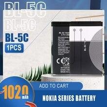 1020mAh BL-5C BL5C BL 5C akumulator litowo-jonowy do Nokia 1100 1112 1208 1280 1600 2610 2600 2700 3100 3110 5130 6230 N70 N71 telefon komórkowy