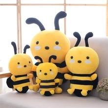 Kawaii Honeybee Plush Toy Lovely Bee with Wings Soft Stuffed Baby Dolls Children Appease Dolls Kids Gift 25/25/30cm/45cm цена 2017
