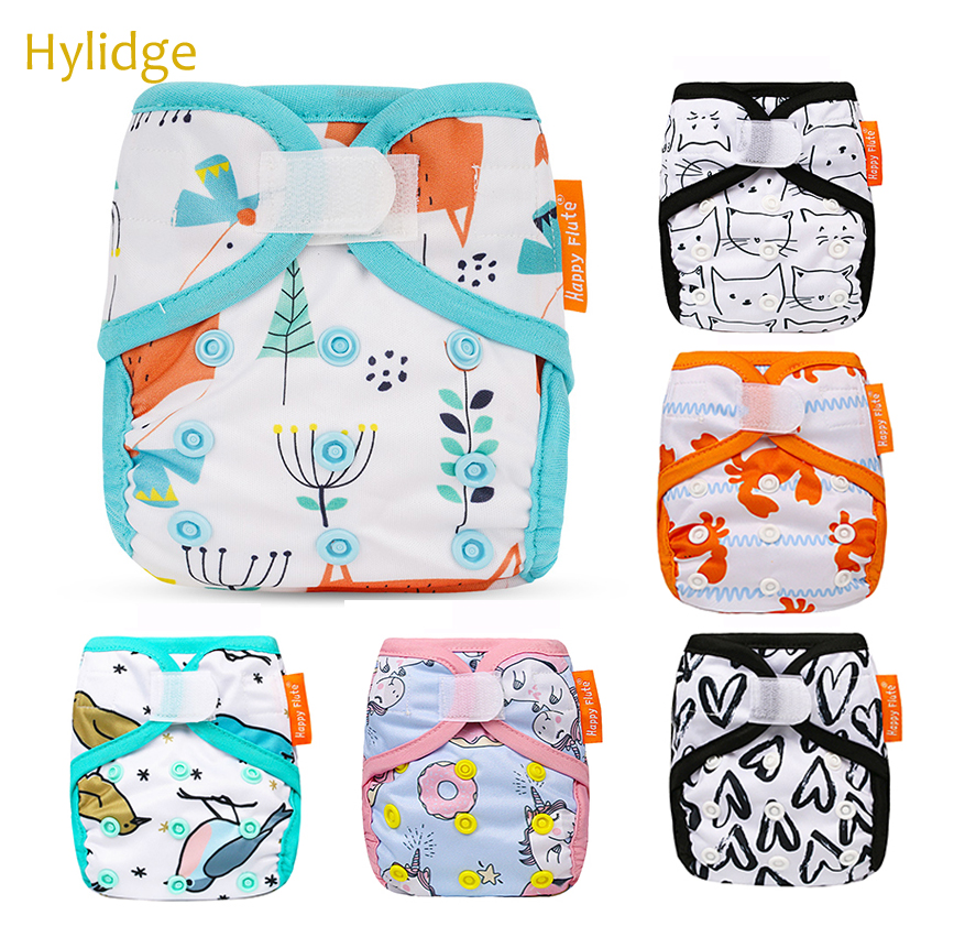 Hylidge Adjustable Snap Reusable Diapers Happy Fute Newborn Thick Diapers Modern Cloth Nappies Toddler Infant Training Pants