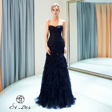 NEW Arrival 2020 St.Des Mermaid Strapless Sleeveless Russian Black Sequins Floor Length Evening Dress Party Gown