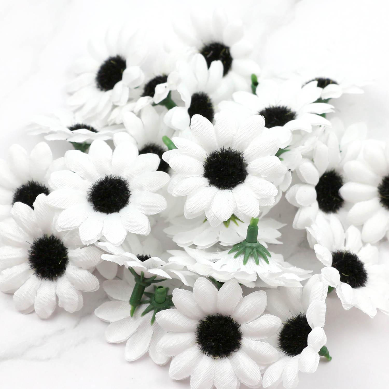 Lulang 30pcs Putih Musim Gugur Gerbera Daisy Buatan Bunga Sutra Bunga Matahari Bunga Kepala Untuk Pernikahan Dekorasi Pesta Buatan Bunga Kering Aliexpress