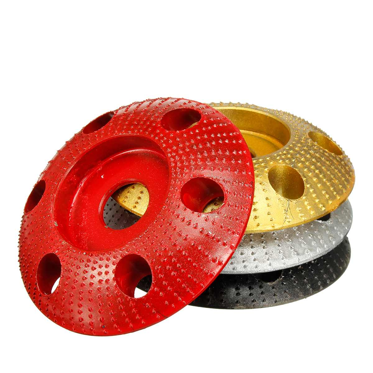 110mm Wood Shaping Disc Round Carving Disc With Hole 22mm Bore Sanding Grinder Wheel For 115 125 Angle Grinder New