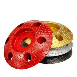 Image 1 - 110mm madeira moldar disco redondo escultura disco com furo 22mm furo roda moedor de lixar para 115 125 ângulo moedor novo