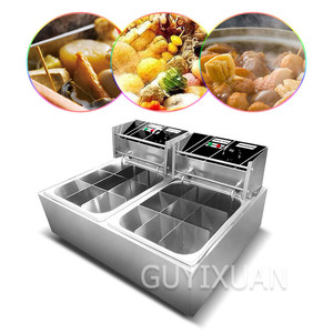 Commercial Multifunctional Oden Cooking Machine Noodle cooker Double Oven Nine Grid Oden Cooking Machine Spicy hot stove