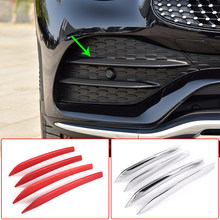 Auto Styling Mistlamp Decoratie Strips Luchtinlaat Grille Cover Trim Accessoire Abs Voor Mercedes Benz Glc Klasse X253 2020(China)