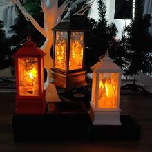 Christmas Vintage Santa Snowman Elk Lightweight Hanging LED Lantern Home Garden Decor Light Lamp Durable Xmas Decoration gifts