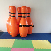 Giant Bowling Ball Game,Human Zorb Bowling Game Inflatable Bowling Shooting Sports Human Body Zorb Blowing Game