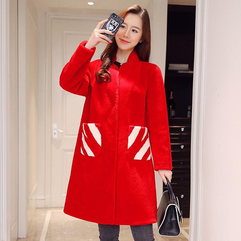 Sheep Genuine 2020 Shearling Fur Coat Female Winter Jacket Women Clothing Real Wool Fur Coats Long Warm Outerwear A538 S