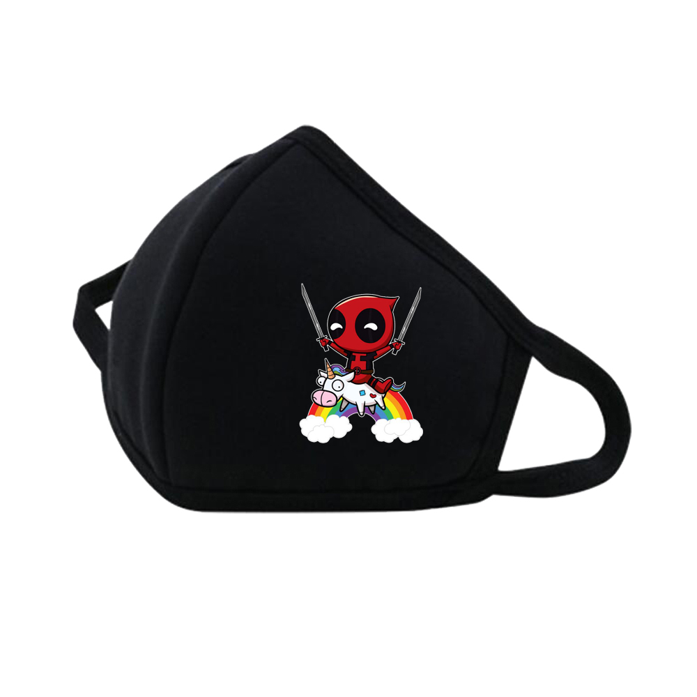 Comics Deadpool Mouth Face Mask Dustproof Breathable Protective Cover Masks Reusable Respiratory Care Mask