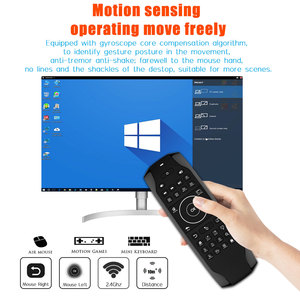 Image 2 - G7 Win10 GYRO Air Mouse QWERTY Keyboard LED Backlit Mini Keyboard 6 Axis Gyro TV Remote control for Win 10 Laptop Mini PC HTPC