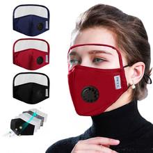 Ochronna maska bawełniana zintegrowana z goglami maska z kostiumami oddechowymi akcesoria Cosplay masque mascarillas tanie tanio CN (pochodzenie) Maski Unisex Dla dorosłych Kostiumy COTTON